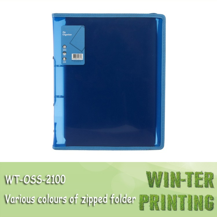 WT-OSS-2100 Zip organiser folio file wallet document folder