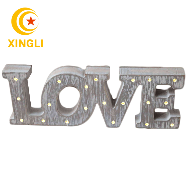2018 New Products wedding light decor <strong>wooden</strong> led light <strong>wooden</strong> letters lighting