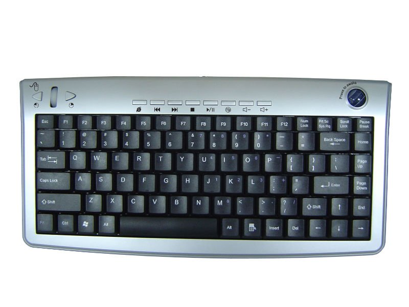 Multimedia Keyboard With Optical Trackball (Rechargeable)