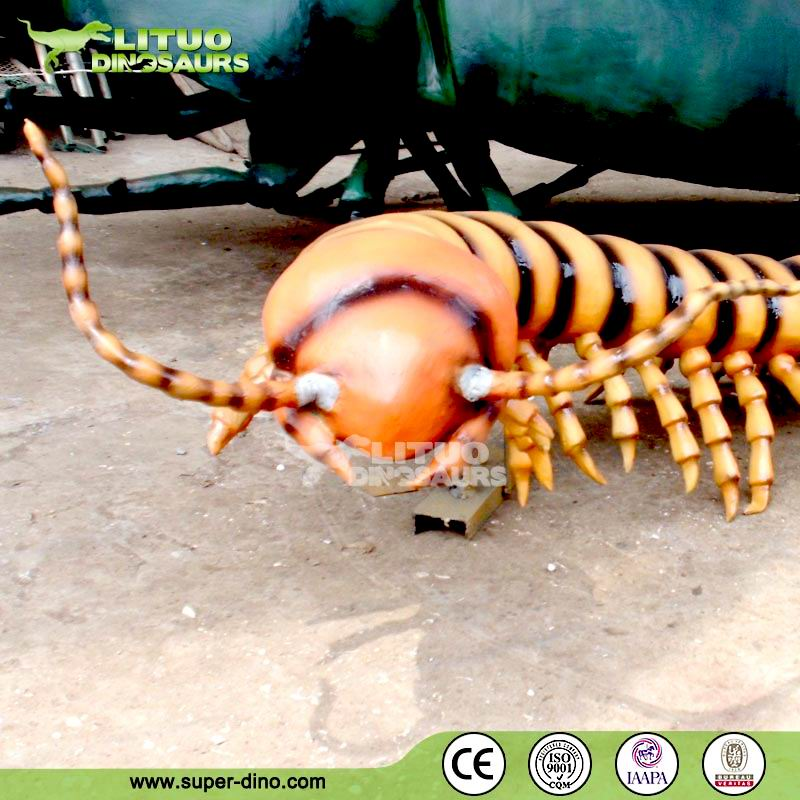 Amusement Park Large Insect Animatronic Scolopendra Model For Sale