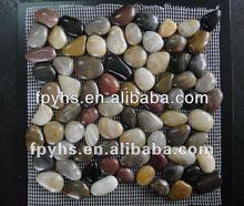 multi-colorful Polished Mixed Pebble Mosiac Tile