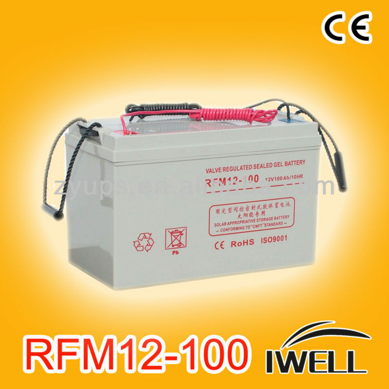 Solar Systems Batteries Industrial Battery 12V 100AH Deep Cycle GEL Battery