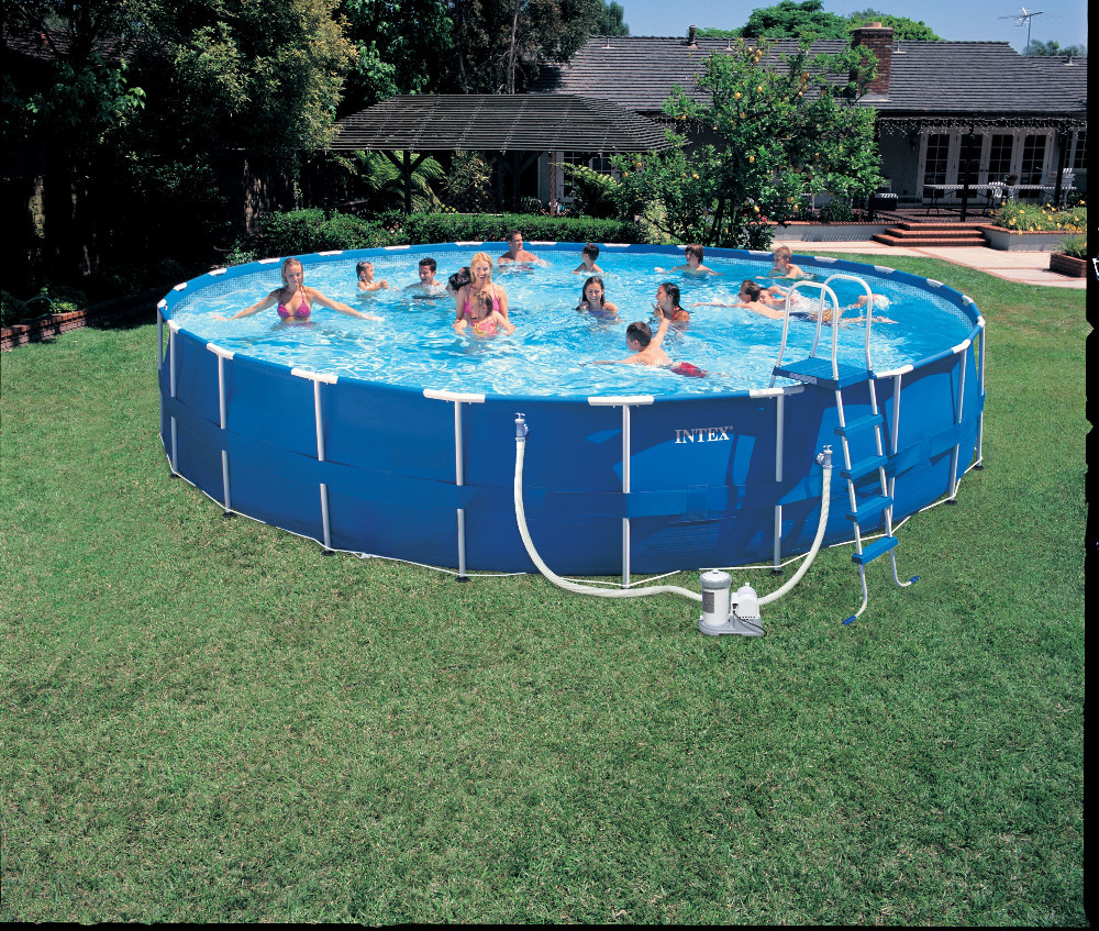 2015 outdoor family enjoying water pool intex framed swimming pool buy intexintex poolintex swimming pools product on alibabacom