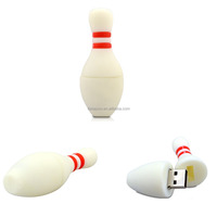 Alibaba wholesale Free shipping usb2.0 8G 16G 32G 64G Bowling Flash drive Sport promotion USB disk