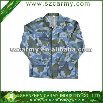 100% cotton men's US army camouflage BDU jacket