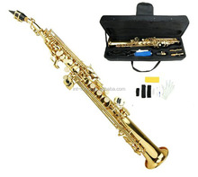 Standard FOCUS Gold Straight Soprano Saxophone New Bb SAX High F With Case