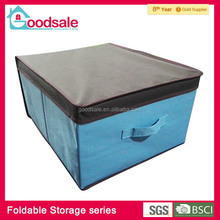 Practical foldable canvas fabric storage box