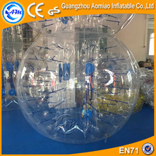 TPU HOT sale bubble football, inflatable bubble ball martini glass for people