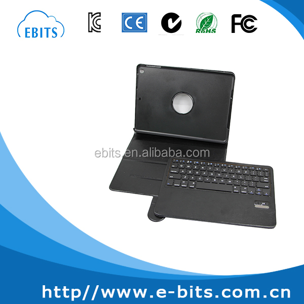 Fashion mini leather case CE/FCC/ROHS/ISO bluetooth keyboard for ipad mini