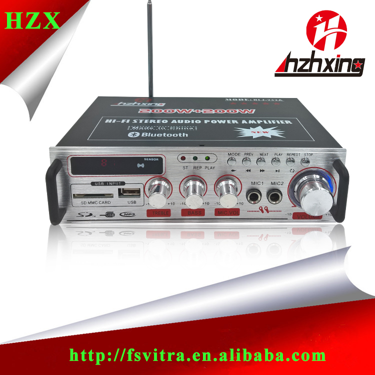 Professional power amplifier with MIC play mp3 music