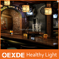Adjustable ceiling cable iron retro lamp chrome hanging light modern pumpkin black chandeliers & pendant light