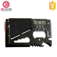 Pocket Camping Hunting Tool 14 in 1 Multifunction Survival Tools Card