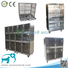 Yuesenmed quality 304 stainless steel veterinary dog cage large combination animal vet kennel cage dog pet cage manufacturer