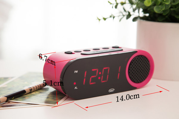 Easy operated digital clock with dimmer sensor