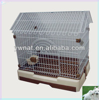 2014 House-type removable bottom tray square Metal dog cage