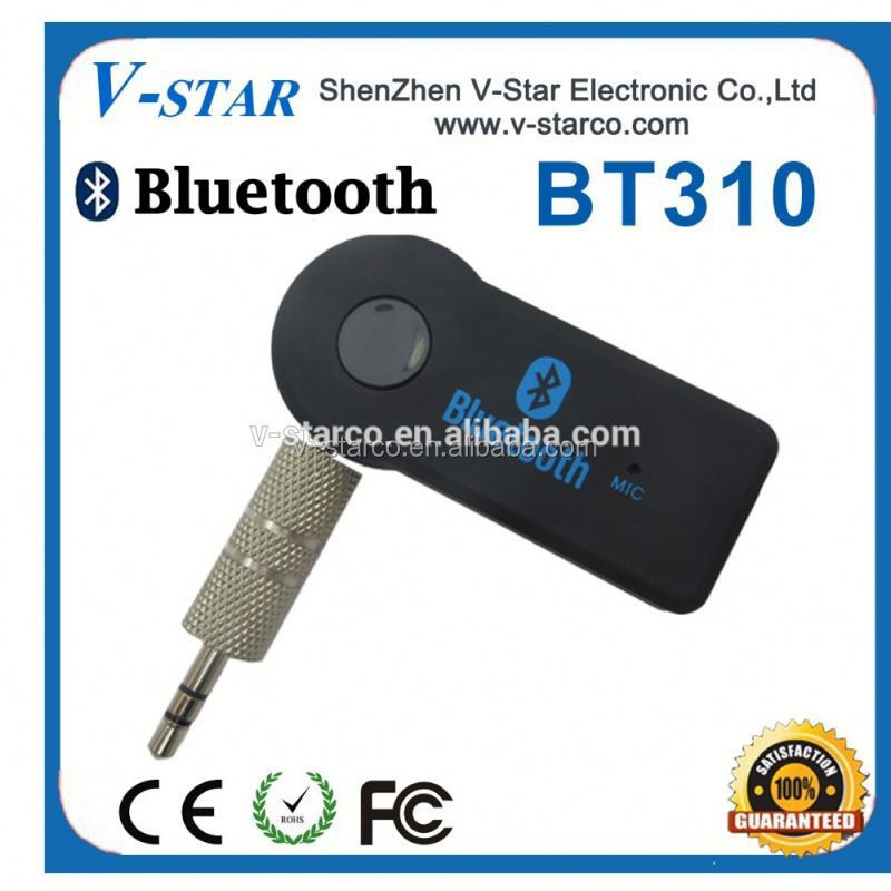New Gadget 3.5mm AUX Bluetooth Adapter Audio Receiver With Mic