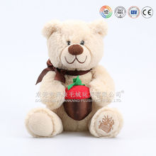 Wholesale plush animals/stuffed yellow teddy bear/peluches teddy bear with ICTI Audited