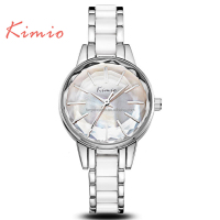 Trending Girls Japanese Movt Wrist Watch Fancy KIMIO Brand Stainless Steel Back Bracelet Dress Watch