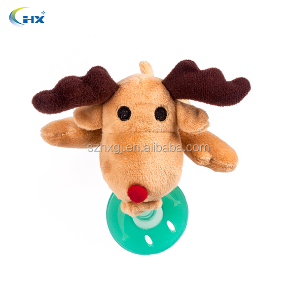 2015 new style fawn plus little animal baby doll pacifier for wholesale