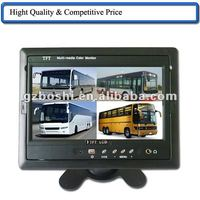 "China truck sun visor dvr odb mini lcd monitor 7"" quad view monitor"