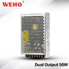 Factory price hot selling dual output 50w 5v 12v power supply