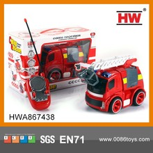 New Design Hot Sale 4CH RC Fire Truck Toy With LED Light And Music