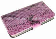 China Suppliers Snake skin Flip Leather Wallet Case For apple iphone 5c 5s