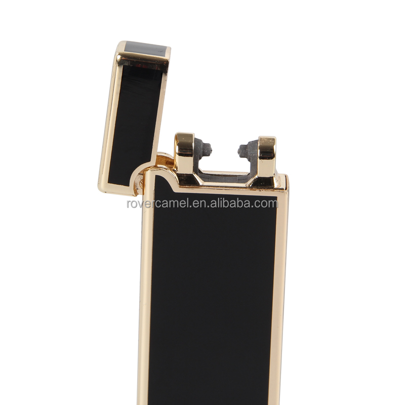 Windproof lighter electronic cigarette double arc usb lighter with customized logo