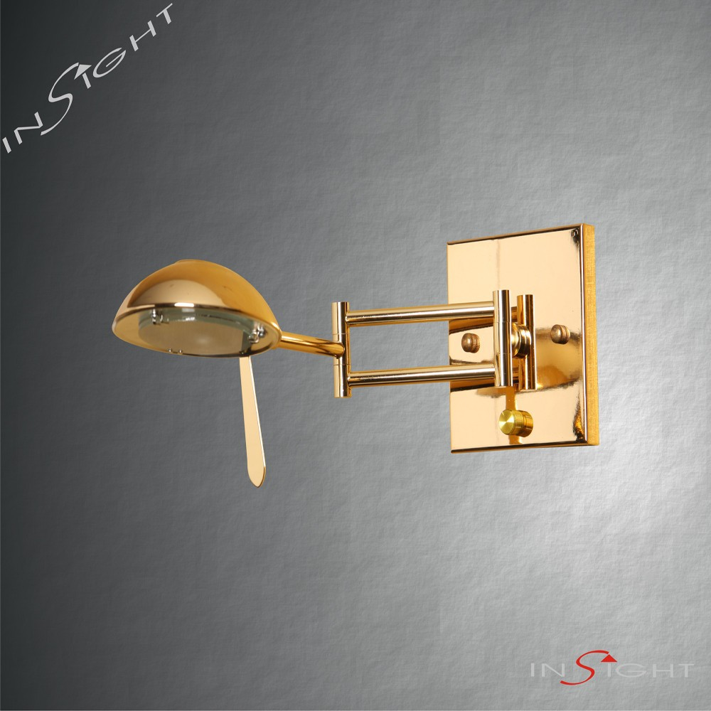 Classical style LED contemporary swing arm bracket wall lighting for hotel room/bedside lighting