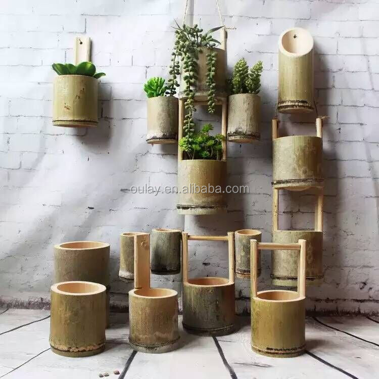 Nature Green Bamboo Vase For Lkebana And Flower Arrangement Buy