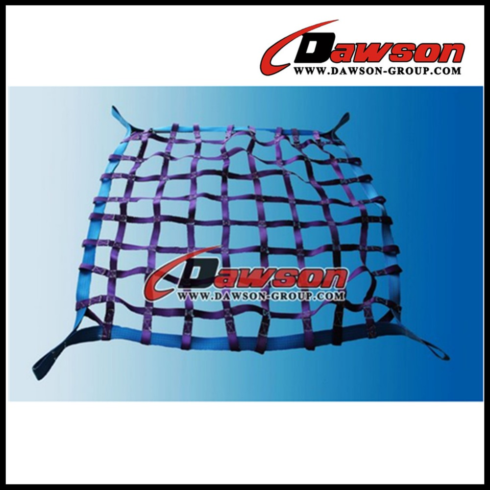 High Quality Polyester Cargo Lifting Nets / Shipping Cargo net / Flat Webbing Cargo Net