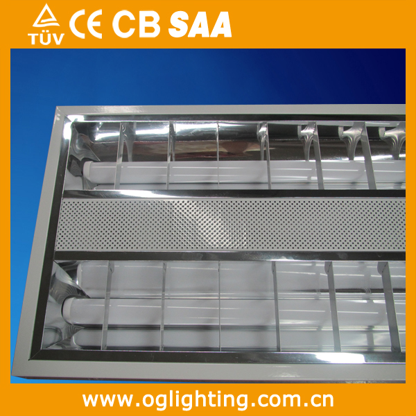 4X10W 600*600 on/off dimming LED louver troffer lamp factory office steel housing flicker free led grille lighting