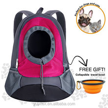 Dog Cat Pet Carrier Portable Outdoor Travel Backpack Comes With Collapsible Bowl