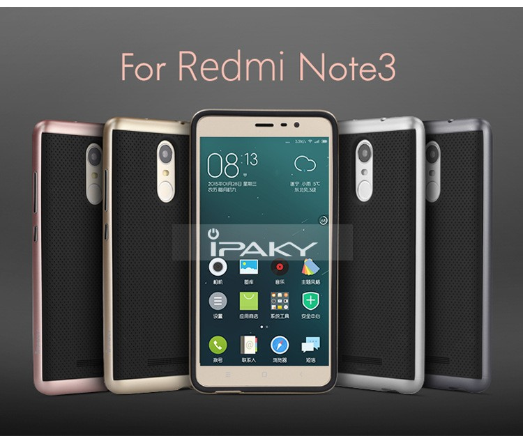 2017 NEW Ipaky brand TPU+PC cover case for meizu m5 note