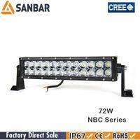 electrical system led pick up light bar lexan with stainless steel mounting bracket