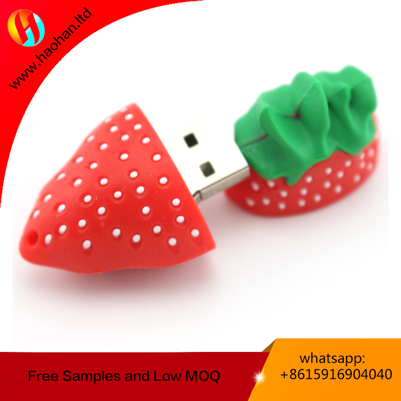 High quality 3-in-1 OTG USB flash Drive/pendrive/USB Stick For Apple IPhone IPad Android PC custom made strawberry