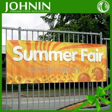 Polyester high quality customized advertising hang banner