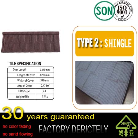 good factory Roofing Tile Manufacturer / Mixed Color Stone Coated Roofing Shingles / Aluminum Zinc Steel Stone Coated Roof Tiles