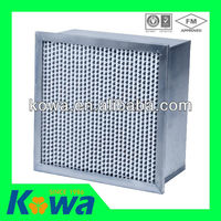 Chinese supplier HEPA Filter with aluminum box type single flange separator hepa filter