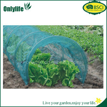 BSCI certification High quality/ plastic garden net tunnel greenhouse film with frames for agriculture