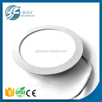 2016 china smd recessed round led panel,6w 12w 18w slim square led panel light