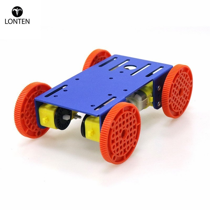 Lonten 4 Smart Robot Chassis Car Model with 4pcs TT Motor Metal Plate for arduinos Nodemcu Raspberry Pie DIY RC Toy Parts <strong>C101</strong>