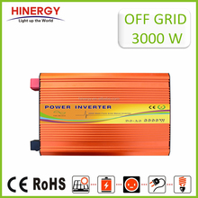 3000W DC 12V/24V/48V to AC 100V/110V/120V/220V/240V pure sine wave power solar inverter with CE 3 years warranty
