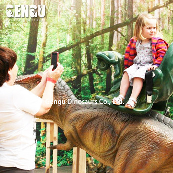 amusement kiddy ride machine of riding dinosaur