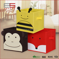 Container Homes Folding Fabric Storage Cube Basket Bin Organizer, Colourful Stackable Toy Box
