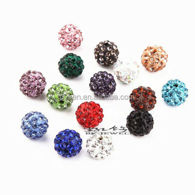 8mm Shamballa Ball Beads Clay Pave Rhinestone Crystal Shamballa Beads for DIY Bracelet Necklace Jewelry
