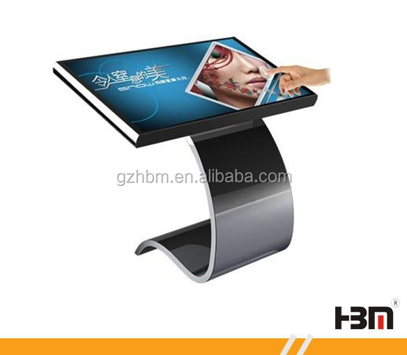 42 inch touch table price advertising panel free standing kiosk