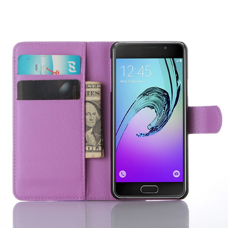 Top quality top sell leather flip case for samsung a3 mini