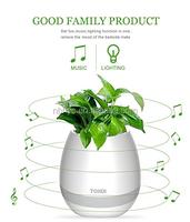 Wholesale plastic Smart led music flower pot,New Arrival ABS Smart Music FlowerPot Smart led Flower Pot