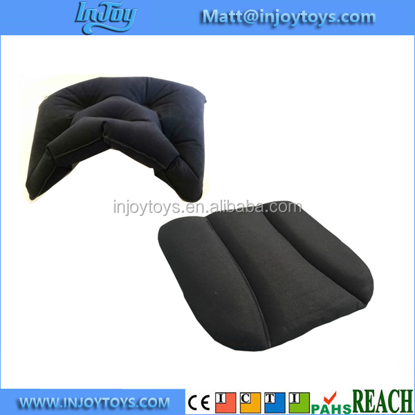 Car Driver Seat Back Support Driving Cushion Inflatable Neck Bolster Set